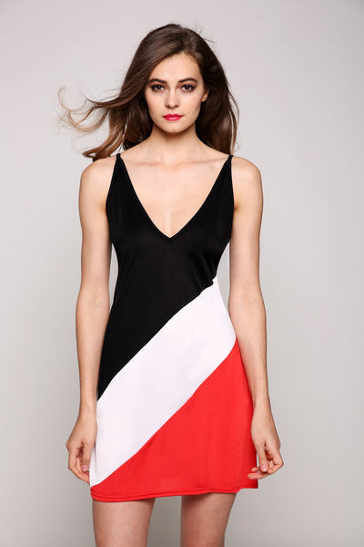New Stylish Lady Women Fashion Sleeveless V-Neck Sexy Slim Dress