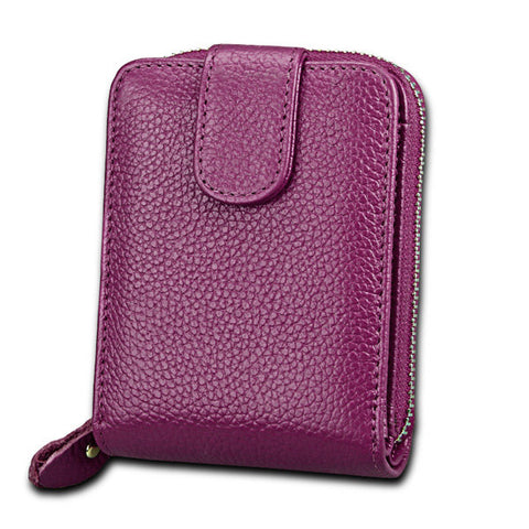 Women Trifold Genuine Leather Wallet Purse Casual Card Holder Coin Bag