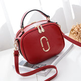 Women PU Leather Letter Casual Dating Crossbody Bags Shoulder Bags