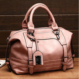 Women Retro Oil Wax Leather Tote Bag Crossbody Bag