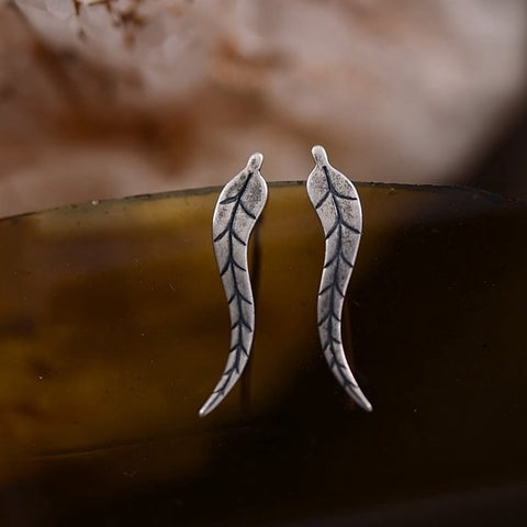 Alloy Climber Leaves Cuff Earrings