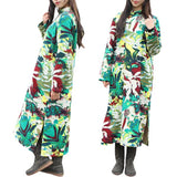 Vintage Women Ethnic Long Sleeve Floral Print Coats