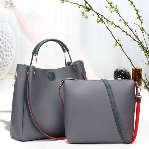 2PCS Stylish Bucket Bag Handbag Shoulder Bags Crossbody Bag
