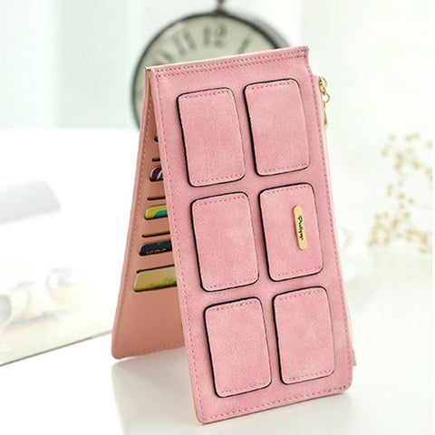 Women PU Leather Square Card Holder Phone Wallet Phone Bag