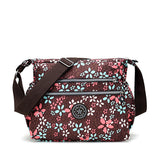 Nylon Light Crossbody Bag Pure Color Printing Shoulder Bags For Women