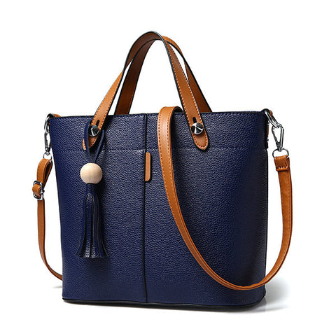 Stylish Tassel PU Leather Handbag Shoulder Bag Crossbody Bag