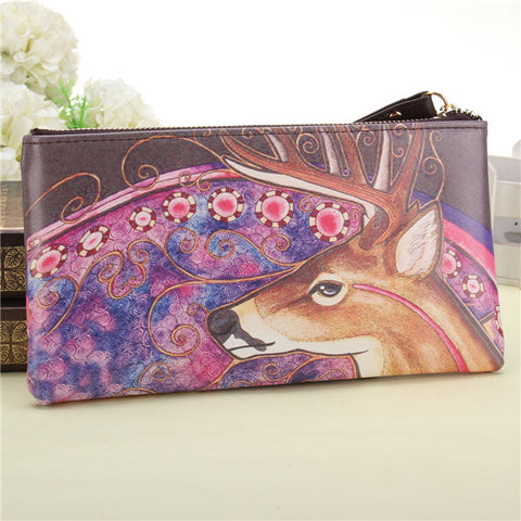 Women Cartoon Lovely Wallet Purse Lady Long Card  Phone Bag