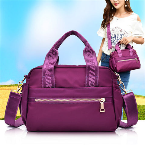 Nylon Waterproof Lightweight Handbag Shoulder Bag Crossbody Bags For Women