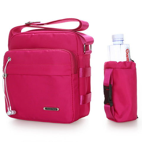 Women Nylon Crossbody Bag With Bottle Bag Sport Bags
