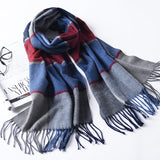 LYZA Winter Scarf For Women Long Scarf Warm Wrap Shawl Cashmere Scarves Autumn Winter Blanket