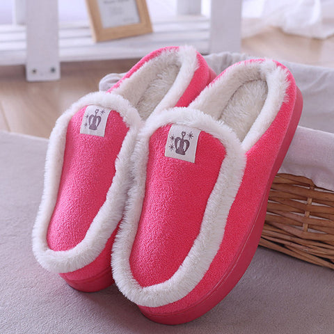 Winter Color Match Home Shoes Indoor Slippers
