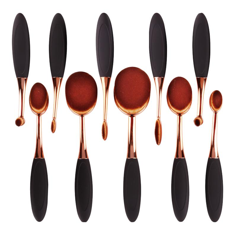 Professional Makeup Brush Set - 10 Brush Set