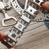 The AlphaStrap - 29-in-1 Multitool Stainless Steel Bracelet