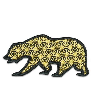 Sacred Geometry Gold Removable Bear Patch