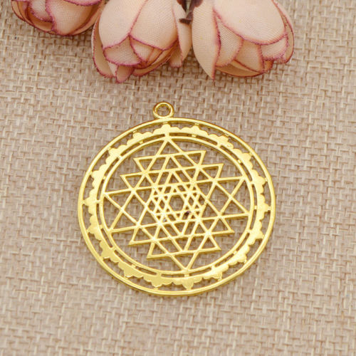 Sri Yantra Prosperity Mandala Talisman Earrings