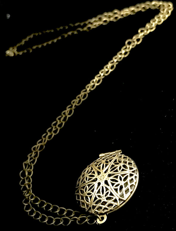 Oil Diffuser Flower of Life Pendant Necklace