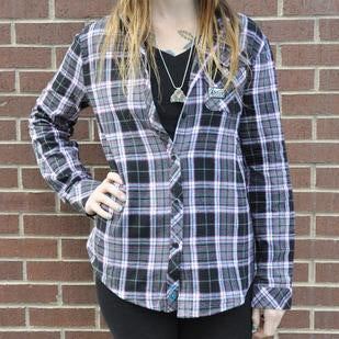 Purple Gray Flannel