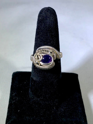 Wire Wrap amethyst Ring