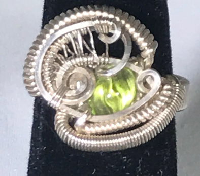 Wire Wrap peridot Ring