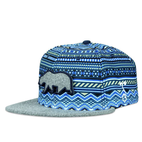 Removable Bear Blue Gray Aztec