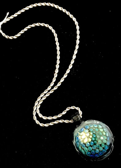 Glass Circular Bubble Pendant