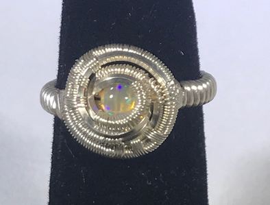 Wire Wrap Opal Ring