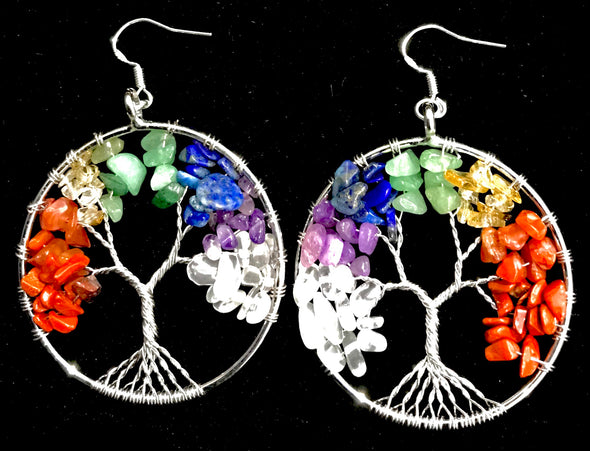 Crystal Tree of Life Earrings