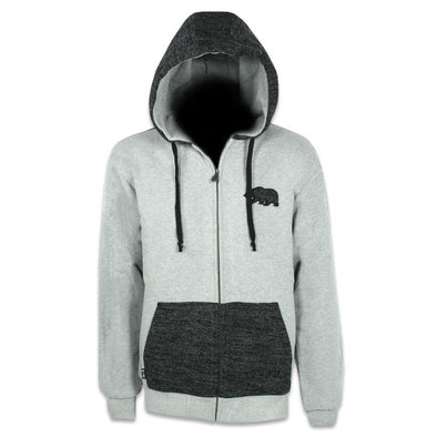 Knit Gray Removable Bear Zip Up