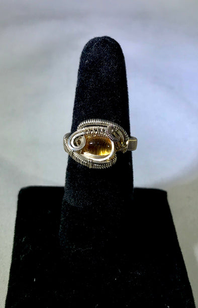 Wire Wrap citrine Ring