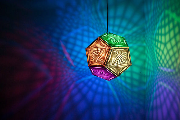 """Asking the Right Questions"" Dodecahedron Lantern"