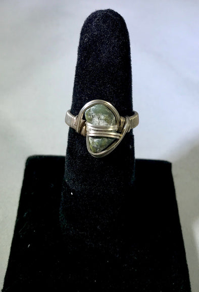 Wire Wrap jade Ring