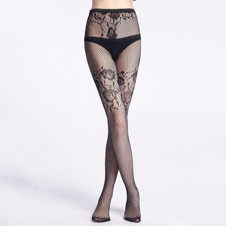 Side Floral Tights