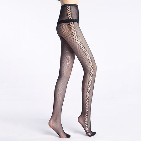 15 Denier Anti-Slip Lace Silk Socks