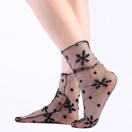 Glitter Side Seam Ankle Socks
