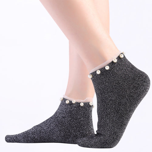 Pearl Dazzled Ankle Socks - ceduire