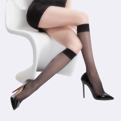 10 Denier Nude Knee-Highs - ceduire