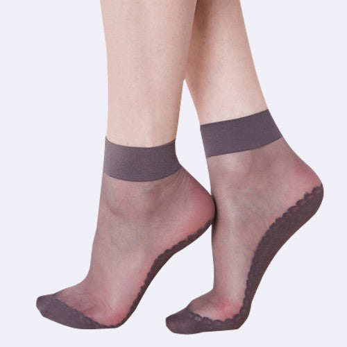 15 Denier Anti-Slip Lace Silk Socks - ceduire