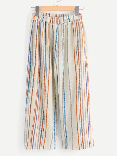 Plus Size Striped Pants
