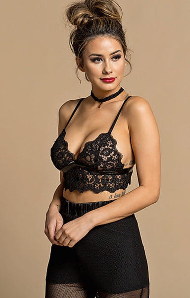 Lace black bralette