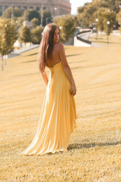 Backless High Low Cami Dress