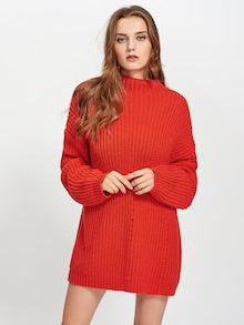 Exaggerate Long Sleeve Eyelet Detail Sweater