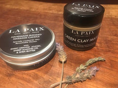 La Paix massage candle and Green clay mask