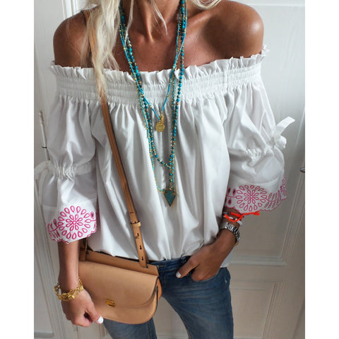 Off shoulder top bohemia