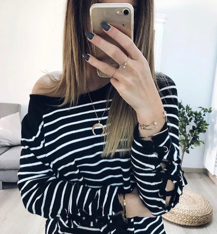 Stripes sweater.