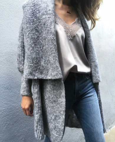 Cocoon cardigan light grey