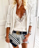 Monochrome stripes jacket