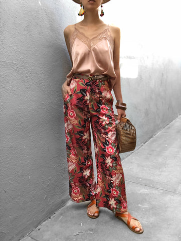 Flower pants exotic print
