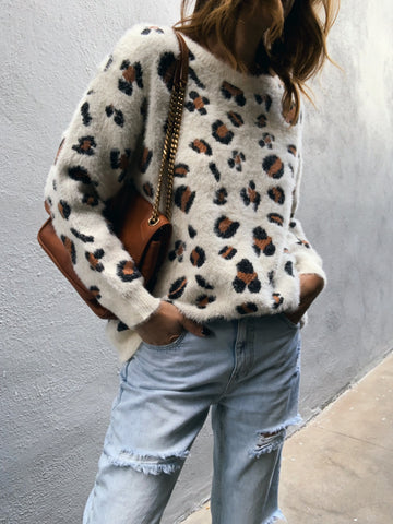 Leopard knit sweater 83