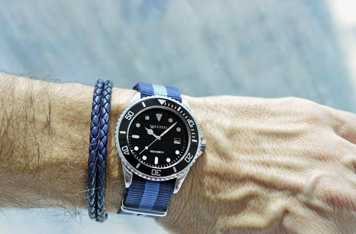 Walteri Watch Nato Navy Blue and Blue