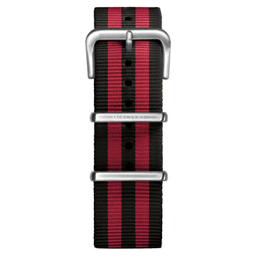 NATO STRAP BLACK & RED WATCH - WALTERI